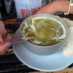 Алена она тоже сделала специальный суп - пальчики оближешь